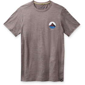 Smartwool Merino Sport 150 Shirt Two Peaks Graphic Men, sparrow heather
